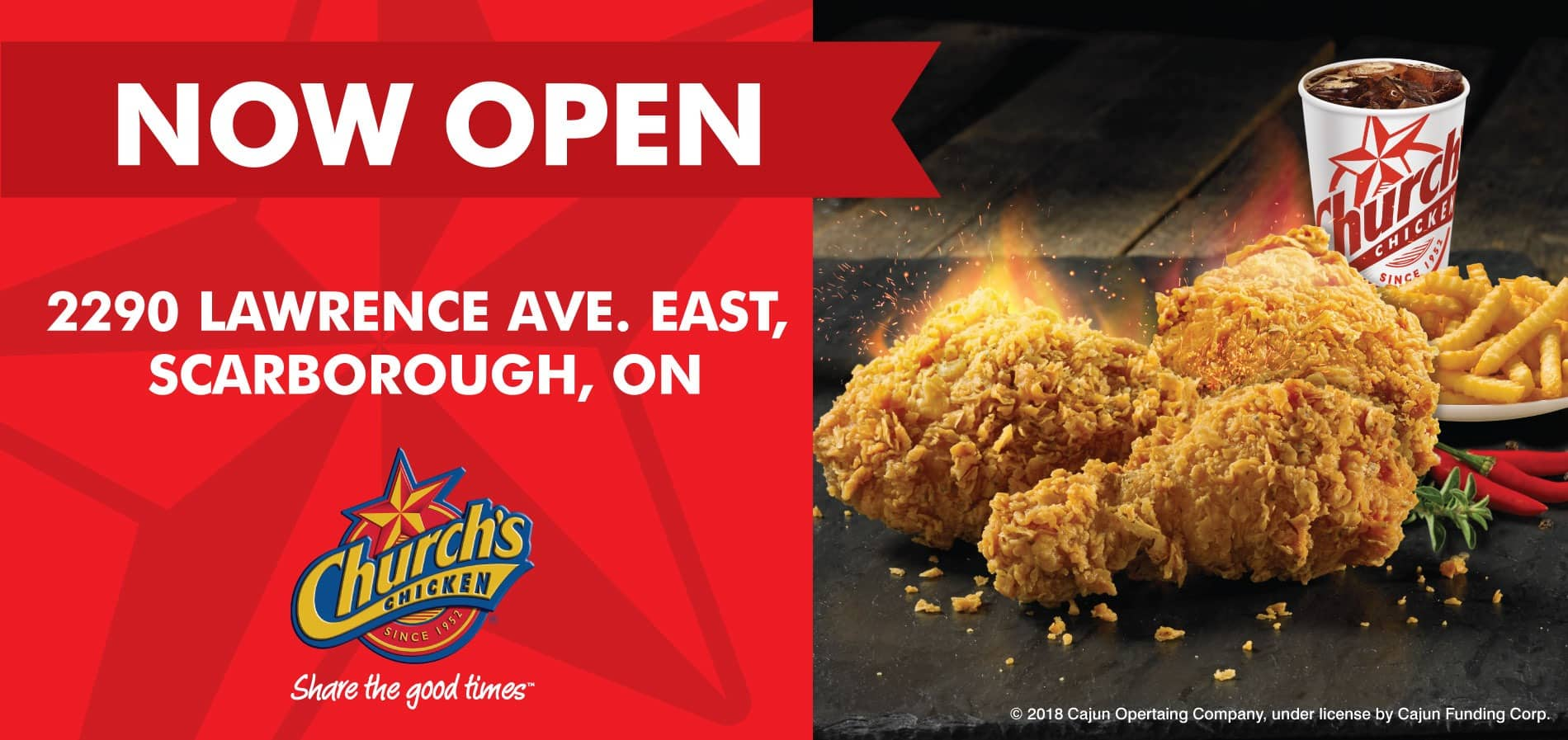 Church's Chicken Now Open