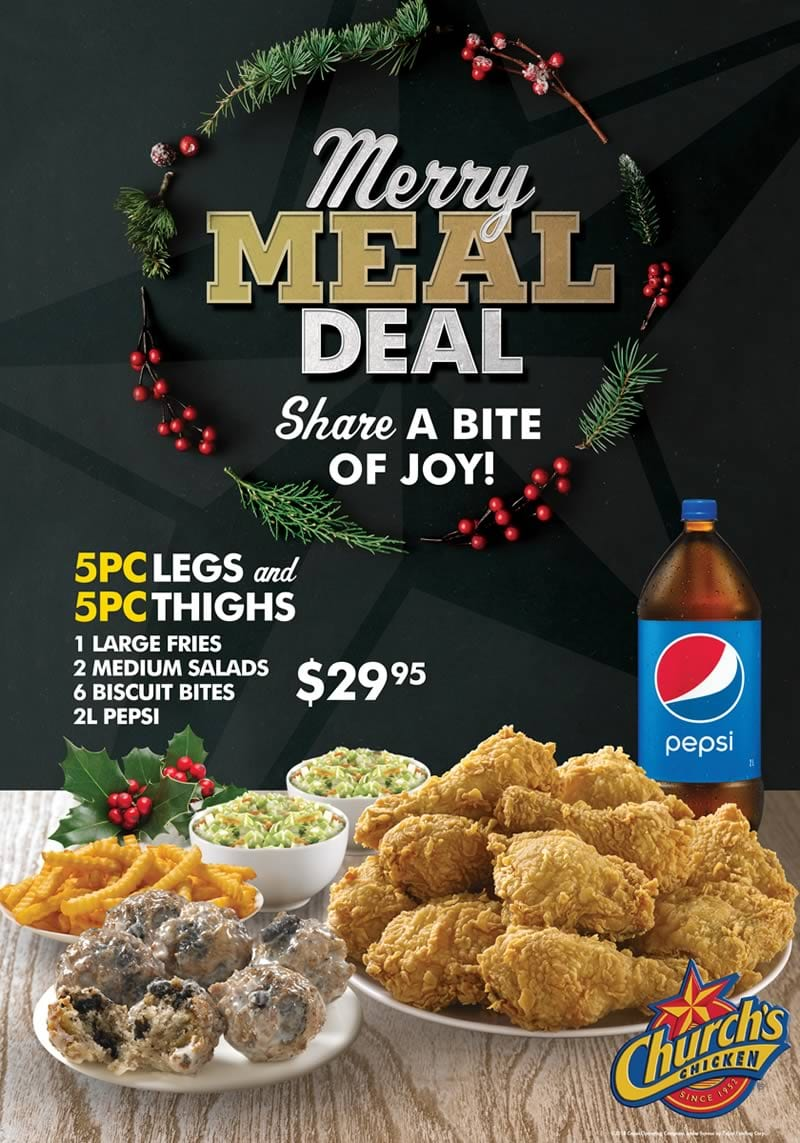 Church's Chicken Vancouver Merry Meal Special