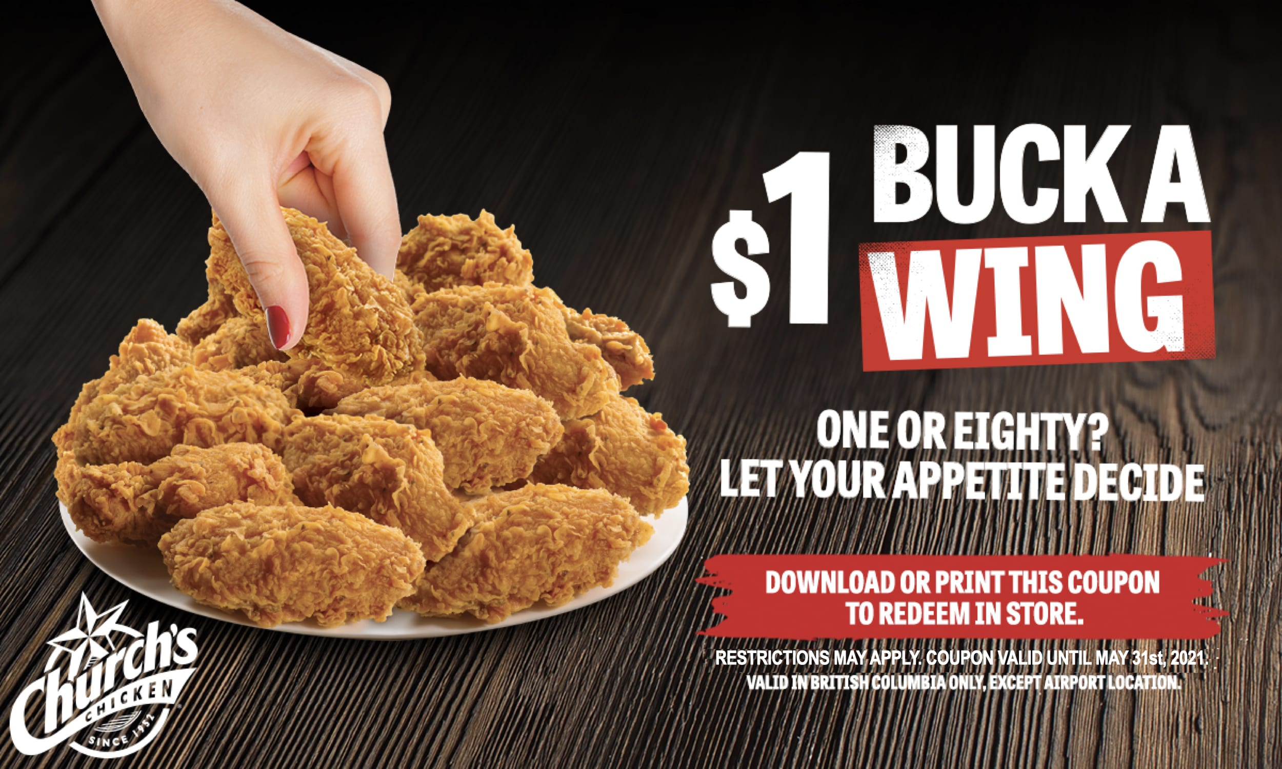 $1 A WING MAY